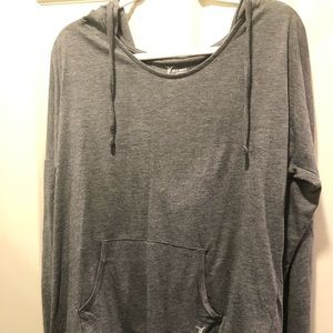 Grey Old Navy Workout Hoodie